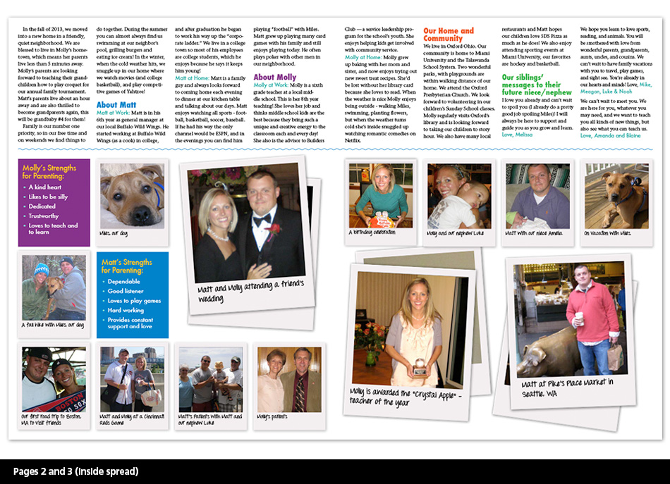 Adoption Profiles - Concept 3 Pages 2 and 3