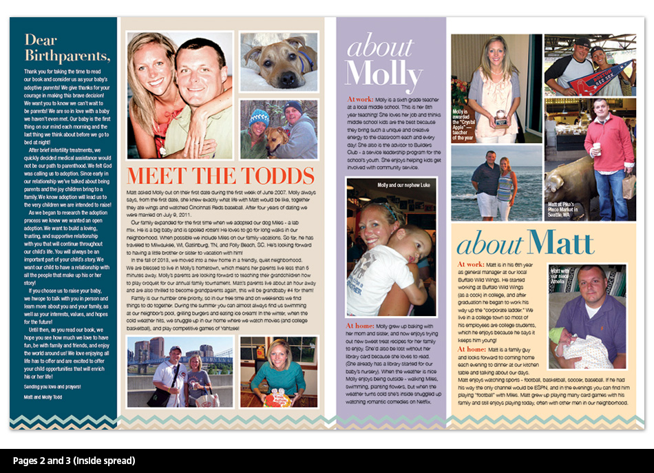 Adoption Profiles - Concept 5 Pages 2 and 3